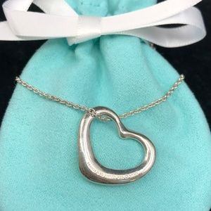 TC183 Silver Open Heart Necklace Peretti Pendant
